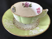 SOLD Regency cup & saucer c 1820 embossed and ribbed - RARE FIND